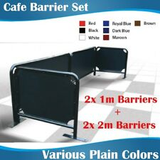 Cafe Barrier Set 2x2m+2x1m Coffee Barriers with plain color banners