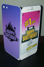 Personalised 3D Fortnite Mobile/Phone (Son/Daughter/Grandson) Birthday Card