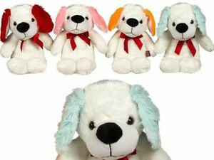 PAWS Cute Dog With Ribbon Floppy Ear Assorted Colours 30 cm Plush Toy Dog