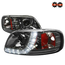 97+ Ford F150 Harley Lighting SVT 1PC Headlight Corner Smoked Projector w/LED