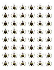 "48 BUMBLE BEE ENVELOPE SEALS LABELS STICKERS 1.2"" ROUND !"