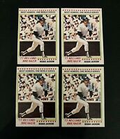 Lot of 4 1978 O-Pee-Chee baseball cards of Reggie Jackson #242 EXMT to NM cond.