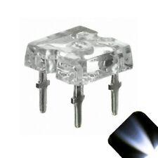 5 x Flat Piranha Cool Clear White LED Light Super Bright LEDs Ultra 3mm 5mm Tail