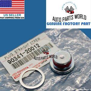 GENUINE TOYOTA 4RUNNER TUNDRA GX460 CYLINDER HEAD WATER HOLE PLUG SCREW W/GASKET