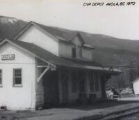 Postcard, Avola CNR Depot 1970 B.C. Canada, RPPC Vintage P19