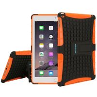 TKOOFN Strong Shockproof Cover Stand for Apple iPad Air Bundled Orange