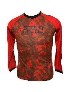 iXS Pivot Race Youth Large Cycling Bike Bicycle Jersey Red - Camo KL New