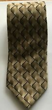 "John Bartlett Statements 100% Silk Tie Men's 59"" L  3.5"" W Geometric Brown Black"