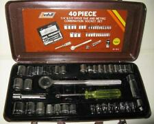 "New Vintage Ludell 40 Piece 1/4"" & 3/8"" Drive SAE/ Metric Combination Socket Set"