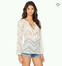Dot & Line Lyon cream lace blouse BNWOT free post D14