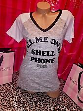 "Victorias Secret Pink T Shirt Miami ""Call You On My Shell Phone"" Large"