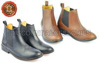 REAL LEATHER CHELSEA BOOTS WOMENS GUSSET ANKLE SLIP ON PULL ON LOW HEEL
