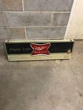 "Rare Miller High Life Bouncing Ball 60s Bar Store Display 42"" Message Board Sign"