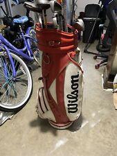New listing Caddyshack Model Vintage Red&white Wilson Professional Golf Bag