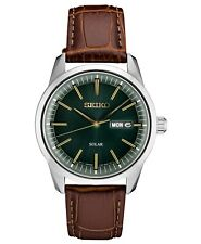 Seiko SNE529 Solar 40mm Men's Brown Leather Watch