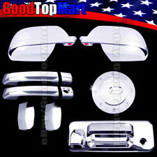 For Toyota TUNDRA DOUBLE CAB 2014-2017 Chrome Covers Mirror+4 Doors+Gas+Tailgate