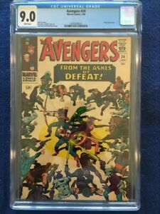 Avengers #24 - CGC 9.0  - White Pages