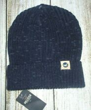 MENS HOLLISTER BLUE BEANIE HAT ONE SIZE