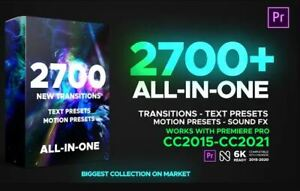 +2700 Transitions for Premiere Pro ALL in One Transitions Texts Motions & SFX