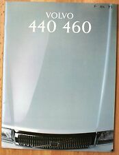 rare Catalogue Volvo 440 460 (yc Turbo) -  France 1993- 40 pages