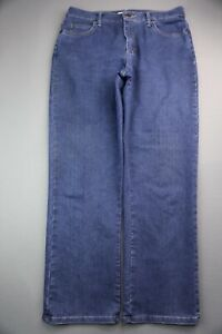 Women's Lee Jeans Relaxed Fit At Waist Stretch Dark Size 12 Short (33x29)