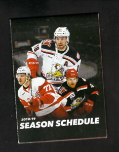 Grand Rapids Griffins--2018-19 Pocket Schedule--AHL--Red Wings Affiliate