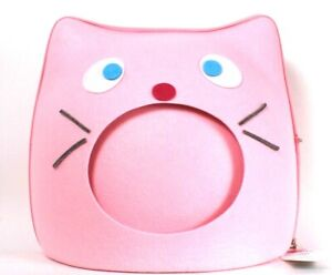 """FurHaven Pet Products Kitty Face Light Pink Felt Cubby 15.25"""" X 14.25"""" X 13.5"""""""