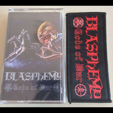 Blasphemy - Gods Of War Cassette Tape w/ Patch - SEALED - New - War Black Metal