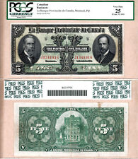 1919 $5 La Banque Provinciale Large Size. PCGS VF25. Charlton 615-14-06