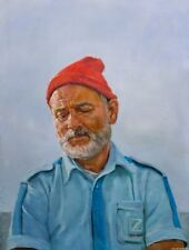 The Life Aquatic with Steve Zissou ART PRINT from original oil painting 13x19in