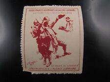 poster stamp cinderella vignette reklamemarken  volontaires militaire alsace