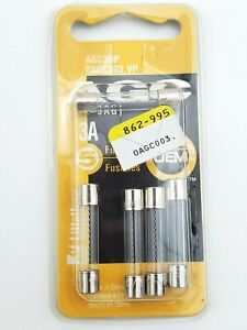 """Pack of 5 Littelfuse AGC3 250V 3 Amp 1/4"""" x 1-1/4"""" Fast Acting Glass Fuses"""