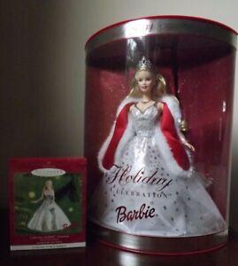 2001 Holiday Barbie Bundle blonde doll ornament