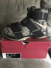 Nike Lebron Soldiers X Size 10us New Camo Lebron James Soldier