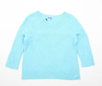 BHS Womens Size 16 Sweetheart Blue Jumper (Regular)