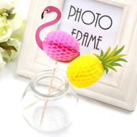 ALS_ 10Pcs Cute Paper Pineapple Flamingo Cake Cupcake Topper Birthday Party Deco