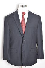 Caravelli Mens Dark Navy Oxford Pinstripe Blazer Jacket Size 42S