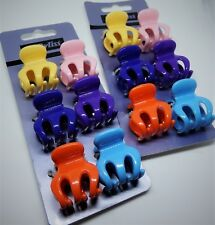 Babyliss Ladies Hair Claws,Clamps x 12 - 3 cm,Orange,Pink,Purple Fast UK P&P