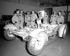 APOLLO ASTRONAUTS WITH LUNAR ROVER VEHICLE 8x10 PHOTO