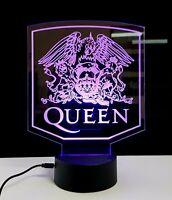 Queen Bohemian Rhapsody lampada luce notturna Led 3D Acrylic Night Light Lamp