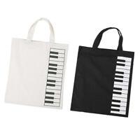 Pure Cotton Piano Keys Musical Handbag Tote Bag Shopping Bag for Girls Gift