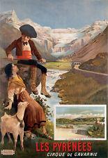 Affiche touristique - Les Pyrénées