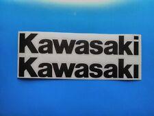 Kawasaki motorcycle tank decals black high quality none OEM..