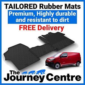 Citroen Dispatch 2016 on - Tailored Front Rubber Floor Mats Premium Van Mats