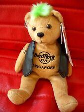HRC HARD ROCK CAFE SINGAPORE punk Bear Mohawk 2009 green hair Herrington