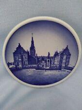 """Royal Copenhagen Krederiksborg Slot 42-2010 Mini Plate Denmark 3 1/4"""" Exc Cnd"""