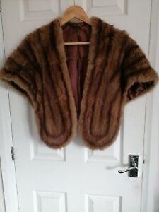 VINTAGE beautiful MINK STOLE Fur Wrap Glamour 40s 50s V.G.C