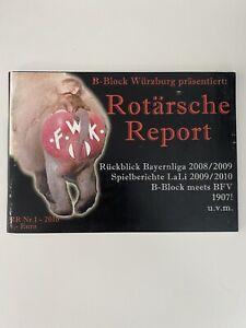 Rotärsche Report Nr. 1 Fanzine B Block Kickers Würzburg Ultras Fussballheft
