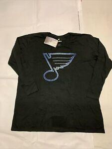 New Women's Original Fanatics NHL St Louis Blues T-shirt Sz L Plus Ls Tee