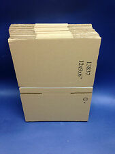 100 - 12 x 9 x 6 / 305 x 228 x 152mm STRONG SINGLE WALL CARDBOARD BOXES FREE 24h